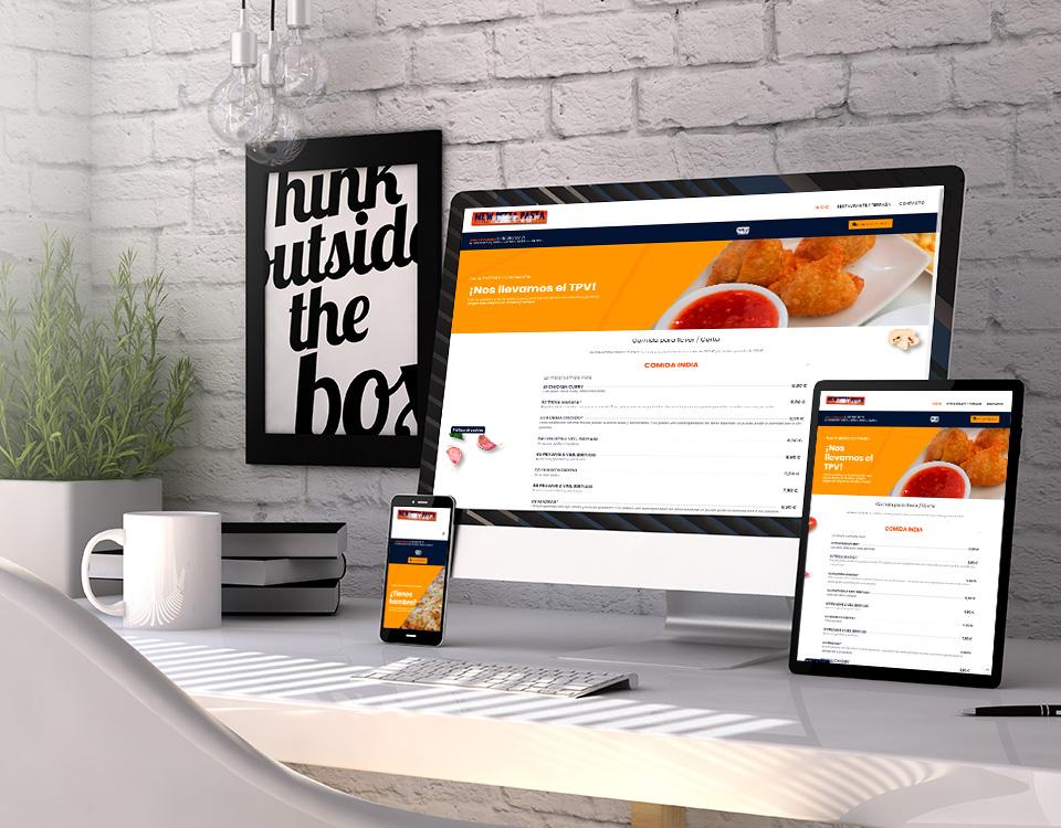 Gracias al servicio de renovación anual de páginas web WEBVENDE®, New Pizza Pasta tiene nueva web