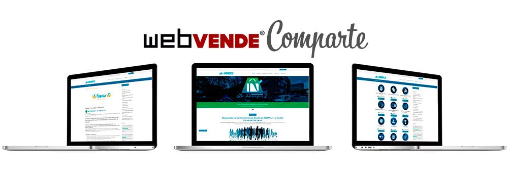En WEBVENDE® queremos presentaros nuestro nuevo servicio WEBVENDE® COMPARTE destinado a Comercios, Asociaciones de comerciantes y C. Comerciales.