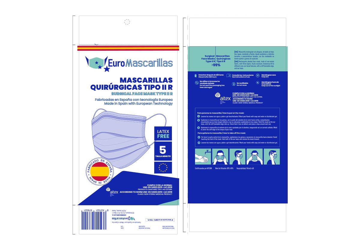 Terminamos el diseño de las nuevas bolsas de mascarillas quirurgicas de EUROMASCARILLAS