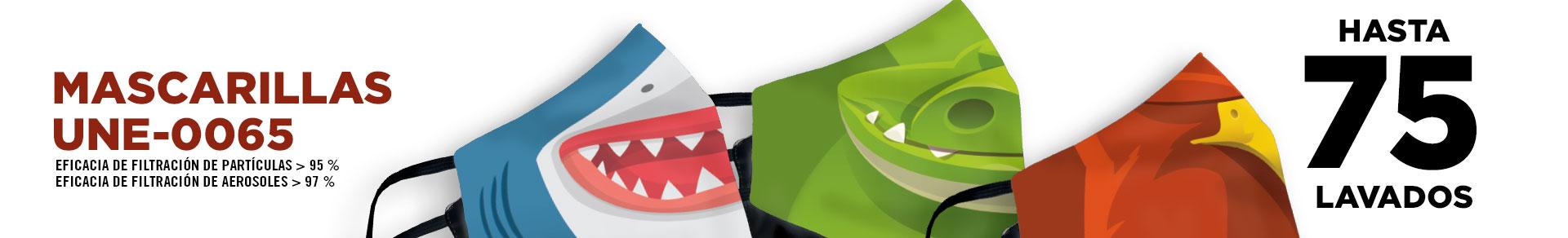 Ya tenemos los nuevos diseños de mascarillas certificadas para niños en nuestra tienda online
