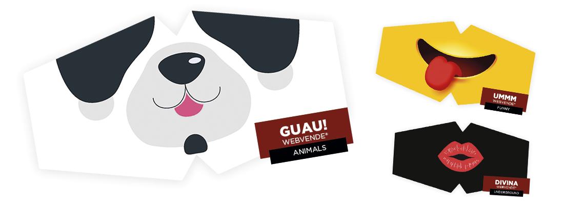 Mascarillas personalizadas para niños y niñas de entre 1 año y 11 años, con doble tela hidrofuga.